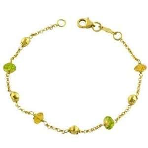 14K Yellow Gold Rosario Bracelet With Gemstone Katarina Jewelry