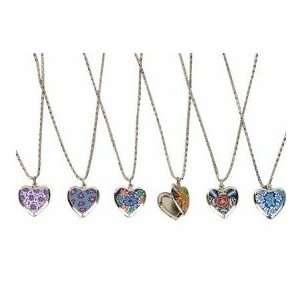 Heart Locket Necklace Assortment (1 dz) Toys & Games