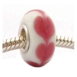 Valentine Sweet Heart Glass Bead Fits OHMBeads Pandora Charm Bracelets