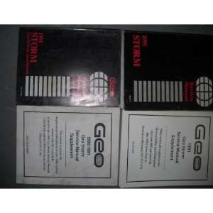 1991 Chevy Geo Storm Service Shop Repair Manual Set OEM