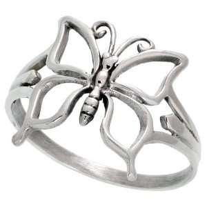 Sterling Silver Cut Out Butterfly Ring (Available in Sizes