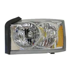 PICK UP HEADLIGHT LEFT (DRIVER SIDE) (CHR BEZEL) 2005 2005 Automotive