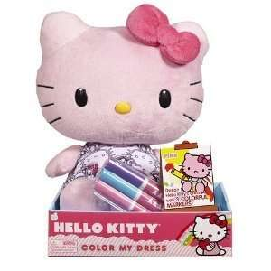Hello Kitty Plush   PINK (Color My Dress   10 inch) Toys & Games