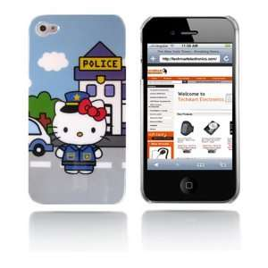 com Hello Kitty snap on hard case for iPhone 4G (Police) Cell Phones