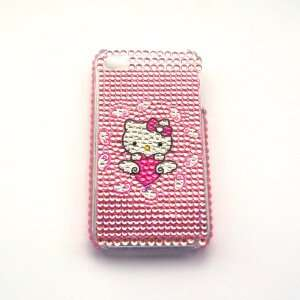 Hello Kitty fly the heart Rhinestone Bling Crystal back cover case