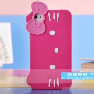 Hello Kitty Silicone Case Skin Bag Accessory Apple Iphone4