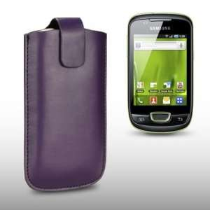 SAMSUNG GALAXY MINI S5570 PURPLE PU LEATHER CASE, BY