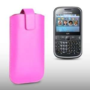 SAMSUNG CH@T 335 PINK PU LEATHER CASE, BY CELLAPOD CASES