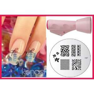 + Image Plate M57 Zebra Design   Nail Art + Holiday A viva Nail Kit