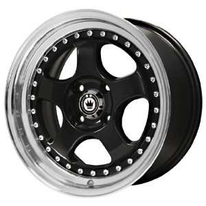Konig Candy Gloss Black Wheel with Machined Lip (16x7
