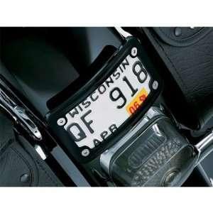 Kuryakyn 3148 Gloss Black Curved Laydown License Plate