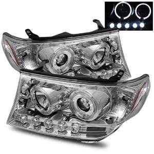 08 09 Toyota Land Cruiser Chrome Projector Headlights