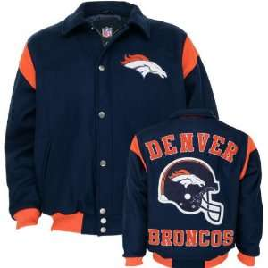 com Denver Broncos Team Color Wool Varsity Jacket Sports & Outdoors