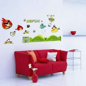 Angry Birds II  Loft 520 Kids Nursery Home Decor Vinyl Mural Art Wall