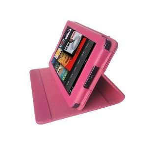 M2U Genuine Leather Stands Cover Case for Kindle Fire