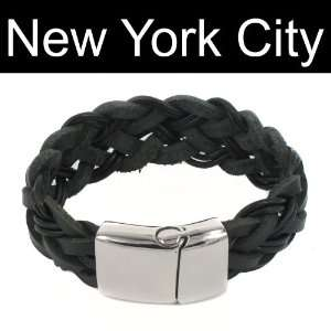 Bracelet Wristband Cuff Stainless Steel Magnetic Lock