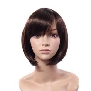Short Straight Wig Brown Bob Short Hair Wig ~ Super Model Wig Beauty