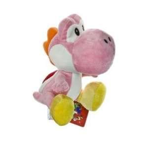 Nintendo Super Mario Bros. Wii Plush Toy   6 Pink Yoshi  Toys