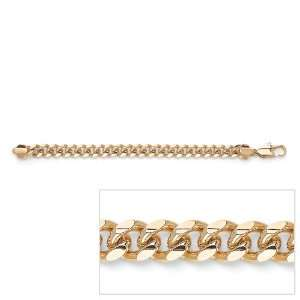 PalmBeach Jewelry Mens 14k Gold Plated Curb Link Bracelet 10 Jewelry