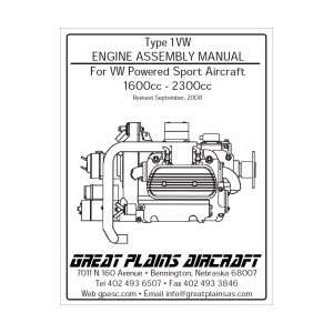 Type 1VW Engine Assembly Manual For VW Powered Sport Aircraft 1600cc