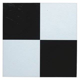 Black White Checkerboard Self Stick Vinyl Floor Tiles