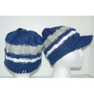 NFL Indianapolis Colts Yarn Knit Billed Beanie Stocking Cap Hat