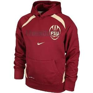 Nike Florida State Seminoles (FSU) KO Performance Full Zip Hoodie