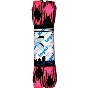 Loyal Laces Single Set Black Hot Pink Skate Toys  Sports