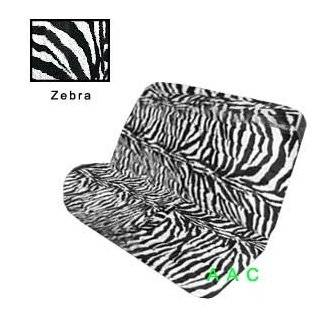 Black and Pink Zebra Tiger Print Bench Car Truck SUV Seat