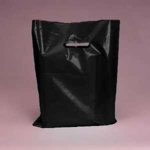 Pack of Black Handled Gloss Plastic Merchandise Bags