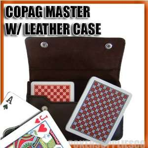 Copag Plastic Cards Leather Case Set Master Poker Regular