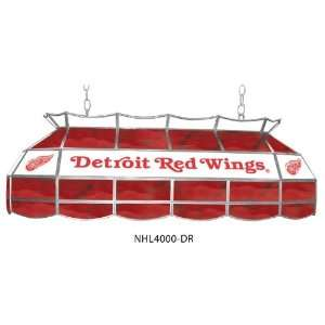 Detroit Red Wings Stained Glass Pool Table Light