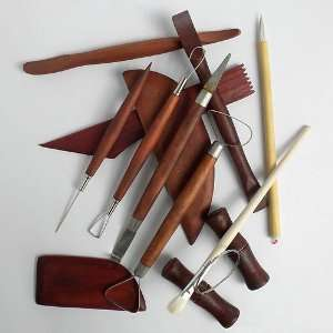 Professional Pottery Tool Set (Set of 12 Tools) Arts