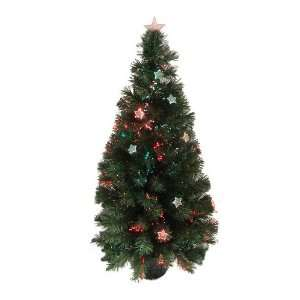 Pre Lit Color Changing Lighted Fiber Optic Artificial Christmas Tree