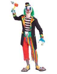 Teen Scary Evil Clown Costume   Teen Boys (up to chest size 40)