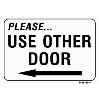 DOOR (with Left arrow) 7x10 Heavy Duty Plastic Sign