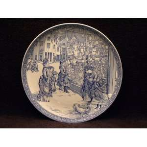 Spode Blue Room Annual Christmas Plate #4 Blue Shopping