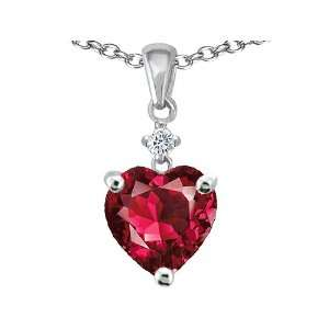 Original Star K(tm) Heart Shaped 8mm Created Ruby Pendant