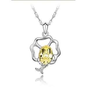 Lighting  Star Swarovski Crystal Necklace (Light Yellow