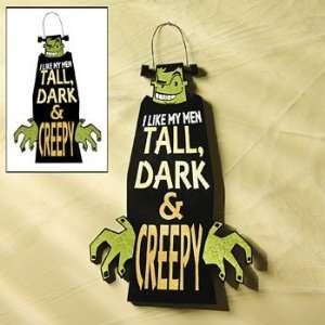 Tall Dark & Creepy Sign   Party Decorations & Wall