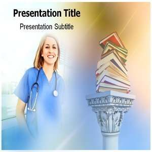 Nursing education PowerPoint Template   Nursing education