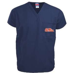 Mississippi Rebels Navy Scrub Top Sports & Outdoors