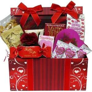 Sweet Love Chocolate and Treats Gift Box   Valentines Day Gift Basket