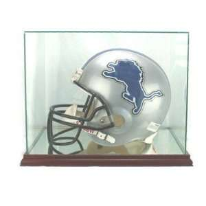 Full Size Football Helmet Display Case   Glass Top with