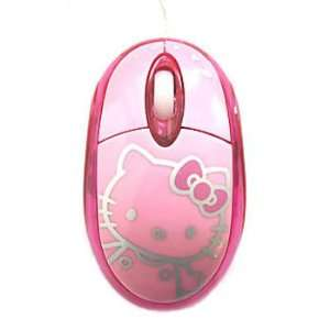 Hello Kitty LED Optical Mouse Pink Toys & Games