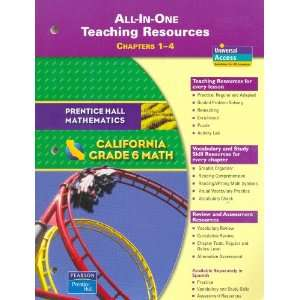 Grade 6 Math California All in One Teaching Resources