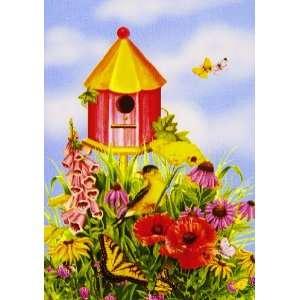 com Colorful Flowers & Butterflies Summer Garden Flag   Small 12.5 X