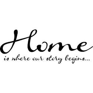 Home Is Where Our Story Begins vinyl lettering wall art sayings home
