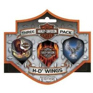 Davidson 643 Harley Davidson Wings Triple Pack Eagle