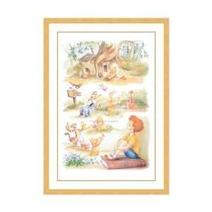 : Disney Framed Art Hundred Acre Dreams Children Kids: Home & Kitchen